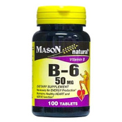 Mason Natural Vitamin B-6 - 50 mg 100 Tabs