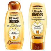 Garnier Ultimate Blends The Strength Restorer Honey Treasures Shampoo (400 ml) and Conditioner