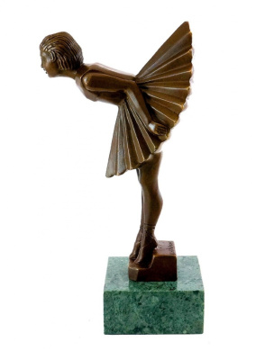 art deco bronze sculpture ballerina female dancer signed chiparus bronze statues art. Black Bedroom Furniture Sets. Home Design Ideas