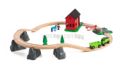 BRIO Countryside Horse Train and Track Set with Shed