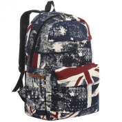 44cm Canvas Retro Union Jack Flag Design Fashion Backpack / Kids School Bookbag
