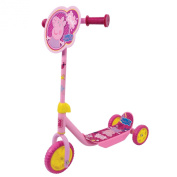 Girls Peppa Pig My First Tri-Scooter Adjustable Anti-Slip 3 Wheeler Outdoor Toy
