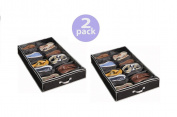 Richards Homewares Gearbox Sixteen Cell Shoe Organiser-Black/Grey - 100cm x 60cm x 5.13cm