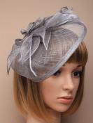 Allsorts® Large Grey Hat Fascinator Weddings Ladies Day Race Royal Ascot