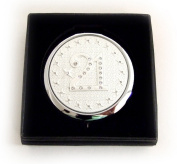 21st Birthday Compact Mirror with Clear Crystals In Gift Box