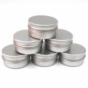 20 x 15ml Aluminium Lip Balm Pots 15ml Capacity Empty Small Mini Cosmetic/Lip Gloss/Nail Art Pots Tins Jars