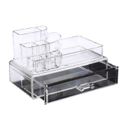 Makeup Case Clear acrylic Cosmetic Organiser Display Box Jewellery box Acrylic Makeup storage 1 Drawers + Top Section