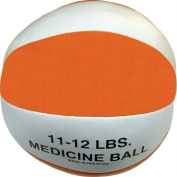 Champion Sports Leather Medicine Ball - 6.4kg