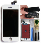 Newest replacment screen LCD Display + Touch Screen Digitizer Assembly for iPhone-5 White included free tool set