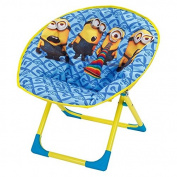 Childs Official Despicable Me Minions New Kids Folding Cushioned Moon Chair