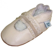 Soft Leather Baby girls Shoes with Suede Soles - Dotty Fish. Cream Christening ideal for parties