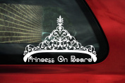 Princess On Board Crown Tiara elegant Quality vinyl sticker ,V1
