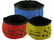 Brand New - Nylon Water Bowl - Travel Size - Strong & Durable to Keep Pets Hydrated - Compact Folds Flat for Easy Storage - Reusable - IN 3 colours
