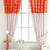 Red Kite Cotton Tail And Friends And Friends Tab Top Curtains