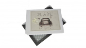 White Cotton Cards Mr and Mrs Wedding Tiny Photo Album Wedding Car Range