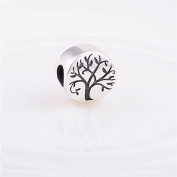 Tree of Life 925 Sterling Silver Bead Charm for Pandora European Charm Bracelets