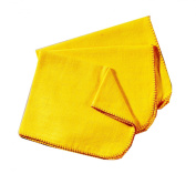Rochley High Quality 6 Pack Cotton Yellow Duster Cloth Cleaning Dusting