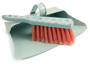 Metal Hooded Dustpan Pattern Hand Brush Set Closed Ash Pan Traditional Cleaning