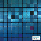 FLEXIPIXTILE, Modern Aluminium Mosaic Tile, Peel & Stick, Backsplash,Accent Wall,0.09sqm,AQUARIUS