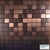 FLEXIPIXTILE, Modern Aluminium Mosaic Tile, Peel & Stick, Backsplash,Accent Wall,0.09sqm,OLD KETTLE