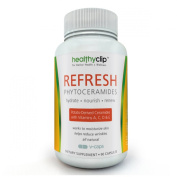 REFRESH Phytoceramides 350 mg Capsules 90ct - Powerful Hydration Treatment - Naturally Reduce Wrinkles and Revive Tired Looking Skin Hair and Nails with Complex Vitamins A C D & E Combination Strengthening Product - Money Back Guarantee