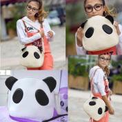 Vktech Cute Panda Ear Woman Handbag PU Shoulder Bag Satchel White Fashion
