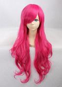 Weeck Anime Long Curly Lolita Rose Wave Harajuku Costume Cosplay Wigs