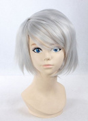 Weeck Shrot Silver White Naruto Hatake Kakashi Costume Cosplay Wigs