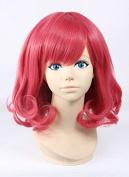 Weeck Anime Shrot Harajuku Lolita Red Bobo Costume Cosplay Wigs