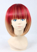Weeck Anime Shrot Harajuku Lolita Hair Red Brown Costume Cosplay Wigs