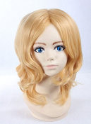 Weeck Anime Shrot Curly Golden Lolita Hair Costume Cosplay Wigs