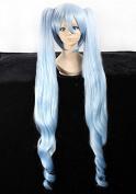 Weeck Anime Vocaloid Hatsune Miku Ponytail Blue Costume Cosplay Wigs