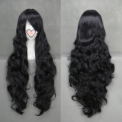 Weeck Long Black Hair Wave Anime Curly Costume Cosplay Wigs