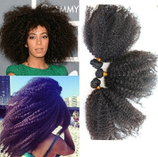 Unprocessed 30cm - 70cm Virgin Mongolian Afro Kinky Curly Human Hair Extensions for Black Women
