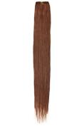 Single Weft Clip in Hair Human Hair Extensions 46cm Auburn (30) American Pride