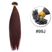 Stema Hair 41cm Pre-coloured Flat Tip Brazilian Human Hair Extension Straight 0.6g/s 100 strands/set