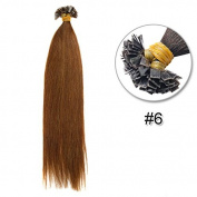 Stema Hair 41cm Pre-coloured Flat Tip Brazilian Human Hair Extension Straight 0.6g/s 100 strands/set
