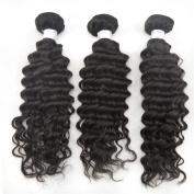 Zenith 3Bundles 25cm - 70cm Wavy Human Hair Extensions Natural Black Unprocessed Grade Remy Hair No Shedding 4Bundles 41cm 46cm 50cm