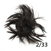 Synthetic Hair Headband Hair Bun Ring Donut Hair Roller Curly Short Hairband