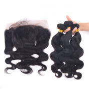 Enoya Hair. Top Quality Soft No Shedding No Tangle Body Wave Free Part Lace Frontal Closure with Hair Weft