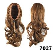 Wavy Ponytails Synthetic Hair Drawstring Ponytail Medium Hair Extensions