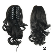 Body Wavy Ponytails Synthetic Hair Ponytail Clip-in Medium Hair Extension