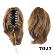 Short Wavy Hair Extensions Synthetic Clip-in Hair Ponytail Claw Hairpieces