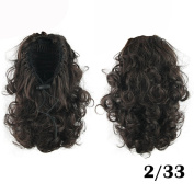 Curly Medium Ponytails Synthetic Hair Ponytail Drawstring Ponytails Hairpiece