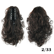 Curly Medium Ponytails Synthetic Hair Ponytail Clip-in Hair Extensions Hairpiece