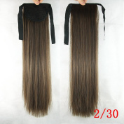 Long Straight Synthetic Hair Ponytail Clip in Drawstring Ponytails Hairpieces