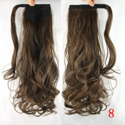 Long Synthetic Wavy Hair Ponytail Hairpieces Clip in Ponytails Hair Pony Tail