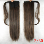 60cm Long Synthetic Straight Hair Ponytail Hairpieces Clip in Ponytails