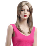 Medium Long Hair Wig for Women Blond Wigs Synthtic Fibre Hair Wig Online Wholesale Hot Wigs 3650