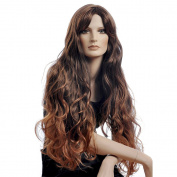Super Long Brown Hair Wigs for Women Hair Weaves Wigs with Bangs Synthtic Women Wigs Sexy Wigs D3511